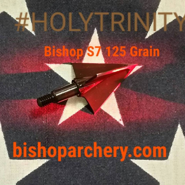 ONE TEST HEAD - 125 GRAIN NONVENTED BISHOP S7 TOOL STEEL HOLYTRINITY
