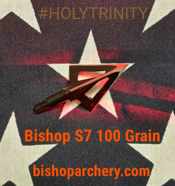 ONE TEST HEAD - 100 GRAIN VENTED BISHOP S7 TOOL STEEL HOLYTRINITY