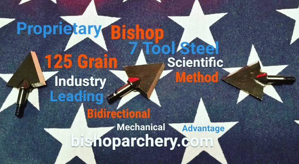 125 GRAIN BISHOP S7 TOOL STEEL SCIENTIFIC METHOD