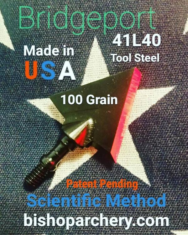 ONE TEST HEAD - 100 GRAIN PROPRIETARY BRIDGEPORT 41L40 TOOL STEEL SCIENTIFIC METHOD