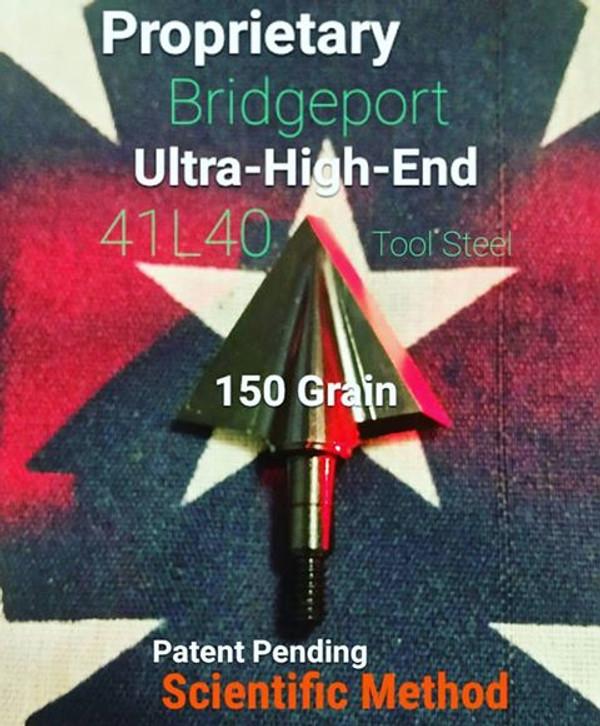 BACK IN STOCK!!!  ONE TEST HEAD - 150 GRAIN PROPRIETARY BRIDGEPORT 41L40 TOOL STEEL SCIENTIFIC METHOD