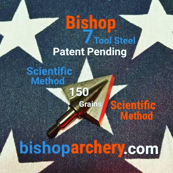 SOLD OUT!!! (PRE-ORDER ONLY - EXPECTED SHIP DATE FEB 2020) ONE TEST HEAD - 150 GRAIN PROPRIETARY BISHOP S7 TOOL STEEL SCIENTIFIC METHOD