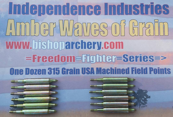 BACK IN STOCK!!! ONE DOZEN 315 GRAIN MACHINED FIELD POINTS