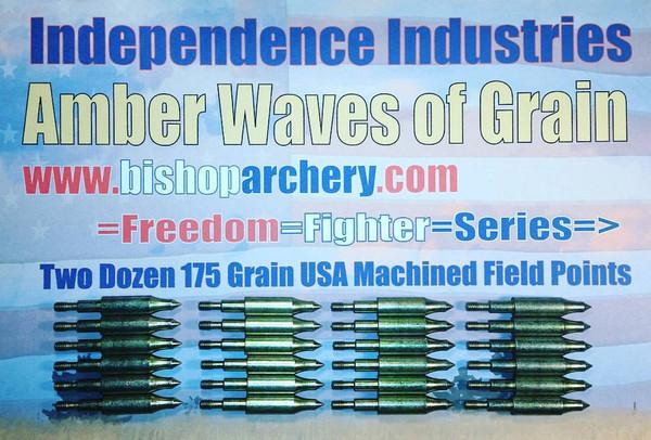 TWO DOZEN 175 GRAIN MACHINED FIELD POINTS