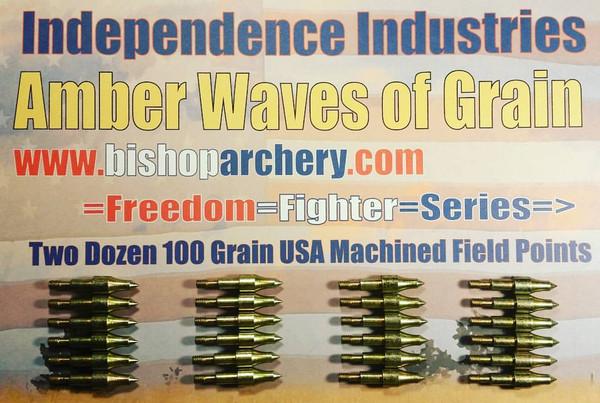 TWO DOZEN 100 GRAIN MACHINED FIELD POINTS