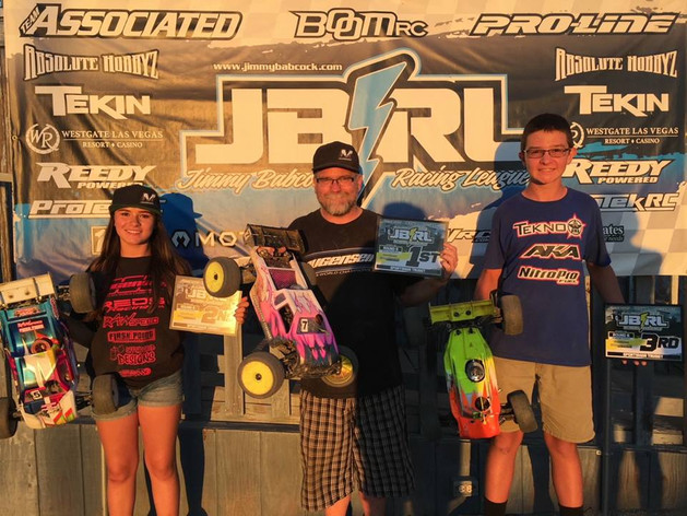 Mugen Seiki Racing would like to congratulate Daniel Harms and Dienna Eichenberger for finishing 1st and 2nd at the JBRL at Revelation Raceway! #MBX7TR
