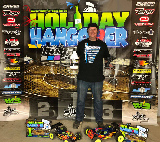 Mugen Seiki Racing would like to congratulate Adam Drake for winning the Holiday Hangover RC Arenacross! #MBX8 #MBX8T