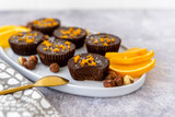Individual Orange Chocolate Hazelnut Tarts