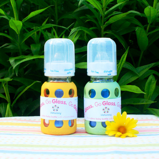 4 oz Glass Baby Bottle - Banana
