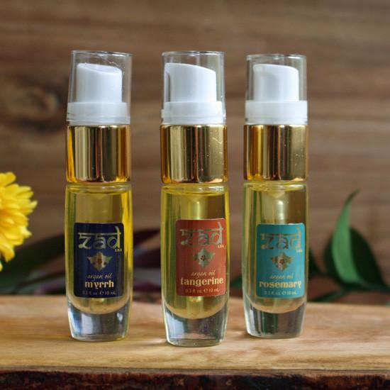 ZAD Argan Oil Hair Kit - 3 0.33 oz Bottles (Rosemary/Tangerine/Myrrh)