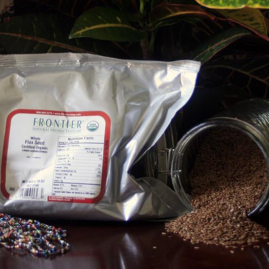 023003 - Organic Whole Flax Seed 1 lb Bag