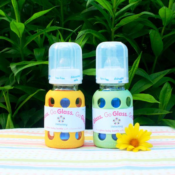4 oz Glass Baby Bottle - Banana