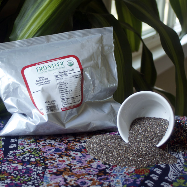 Organic Whole Chia Seed 1 lb Bag