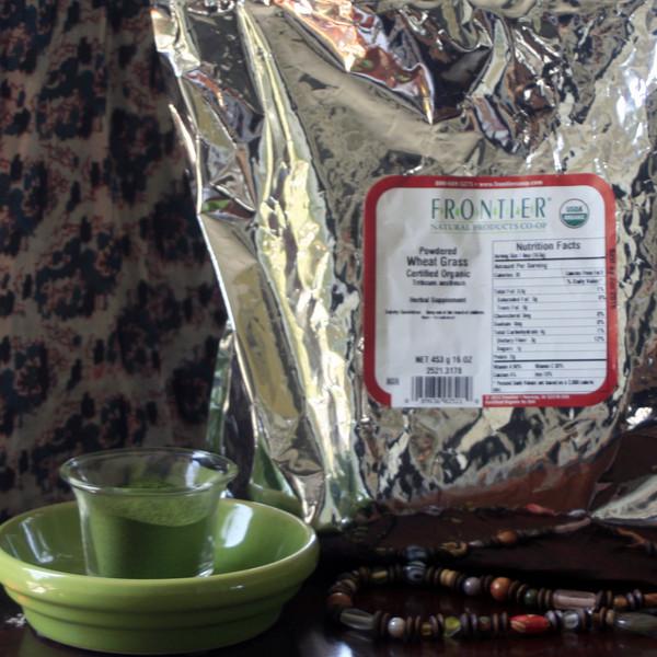 023007 - Organic Wheat Grass Powder 1 lb Bag