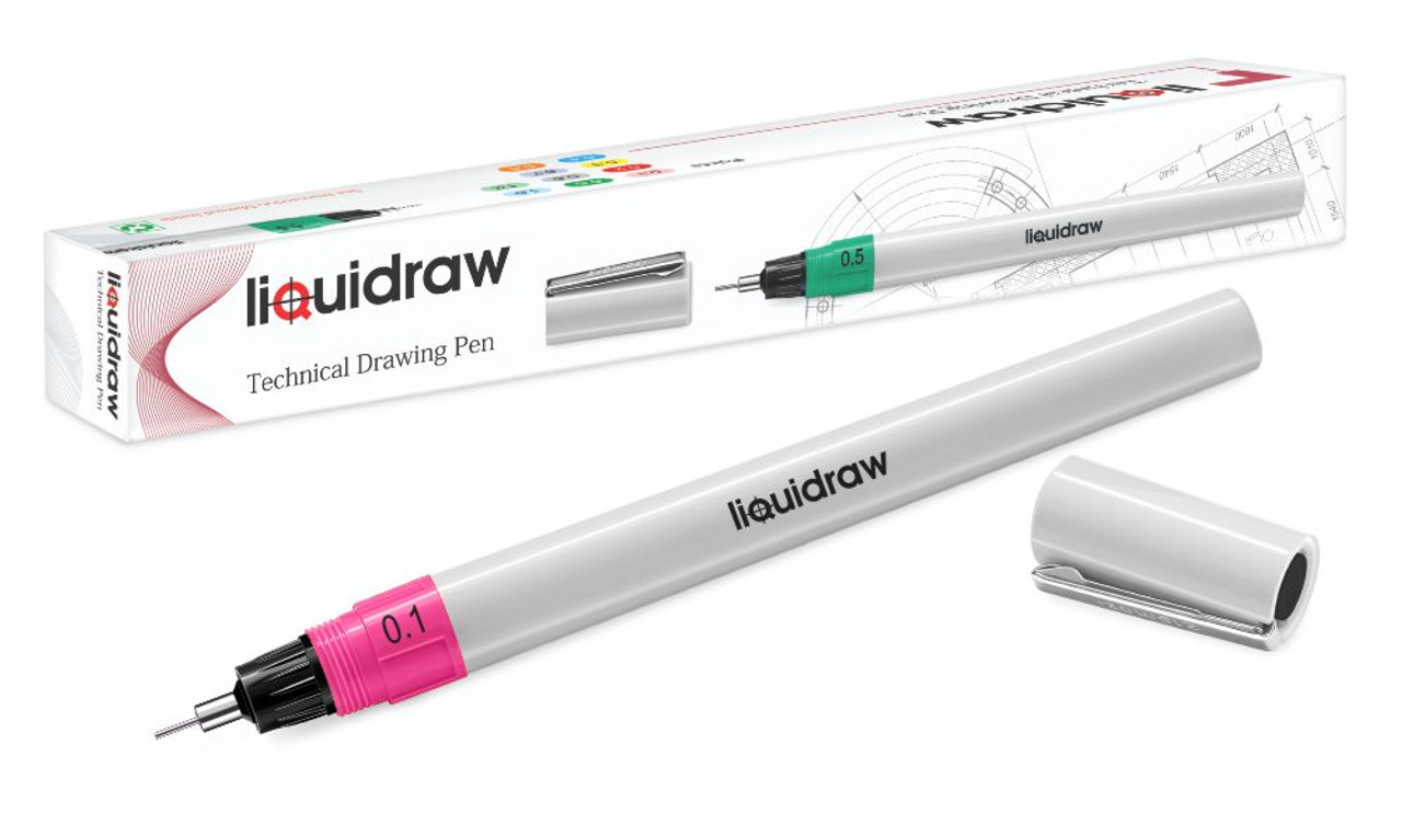 Technical Drawing Pens For Artists, Refillable