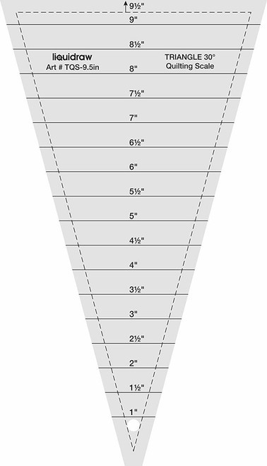 """Triangle Quilting Ruler, 30° 9.5"""""""