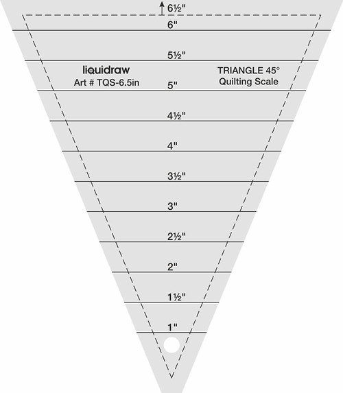 """Triangle Quilting Ruler, 45° 6.5"""""""