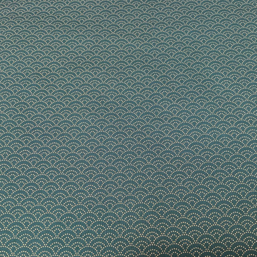 Seigaiha, dotted teal