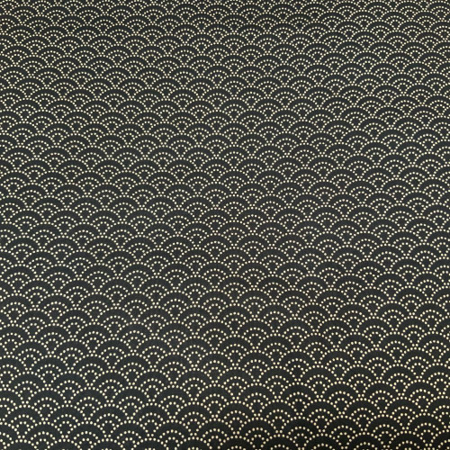 seigaiha, dotted black