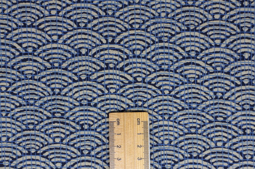 Seigaiha, Large, Reversible Blue