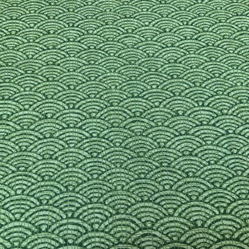 seigaiha, large, reversible green