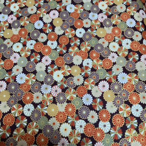 Kiku (chrysanthemum) orange and purple