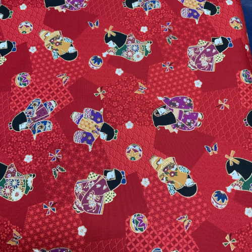 Furisode (long sleeve kimono) Red
