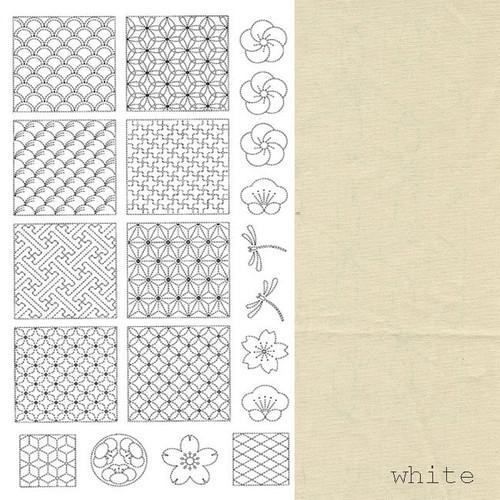 Sashiko Panel Off-White