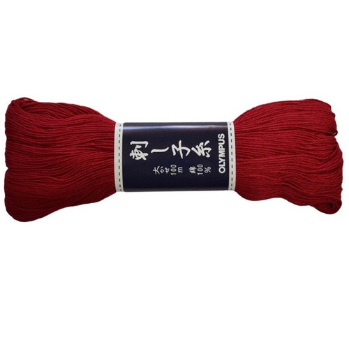 Sashiko Thread 100m Dark Red