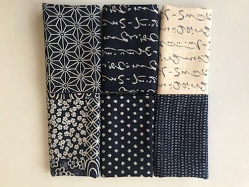 Indigo/Natural Linen-feel Bundle No. 2