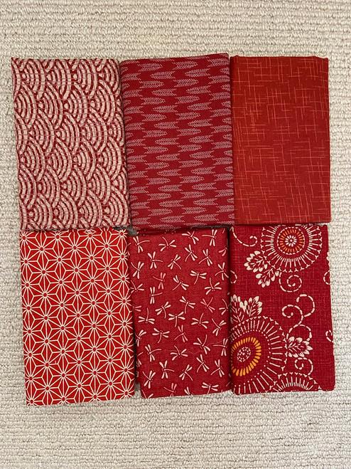 Aka Reds Fabric Bundles