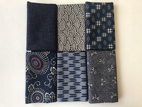 Aoi Traditional Blues Fabric Bundle