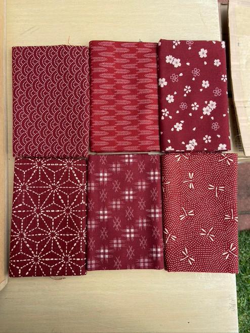 Deep Reds Fabric Bundle