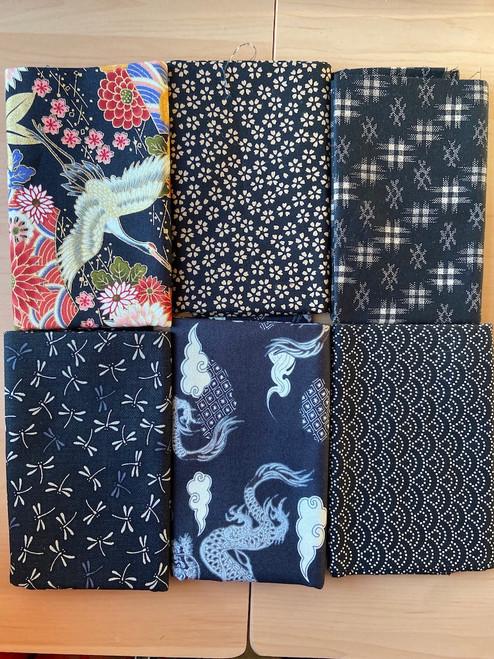 Kuro/Torinoko Black and Natural Fabric Bundle
