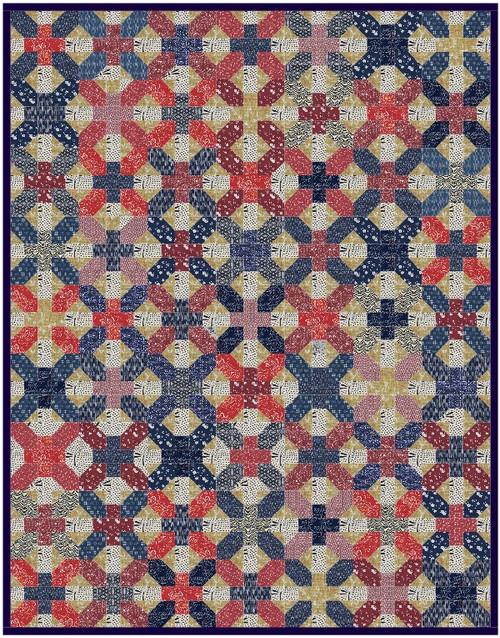 Jūji Quilt Pattern