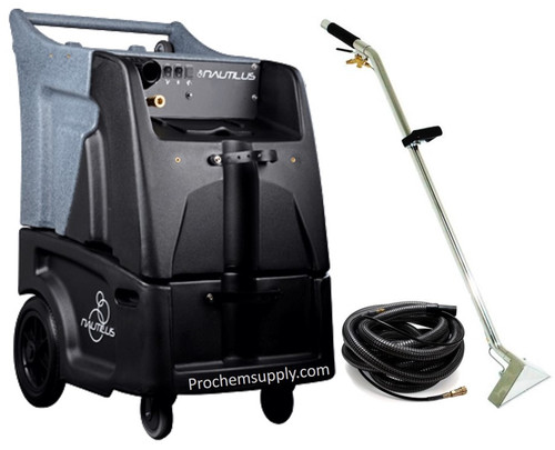 "Hydro-Force Nautilus: HEATED 12 gal 500psi Two 3-Stage Extractor w/ Hose & Wand Kit, MX3-500H, 1665-4663  Nautilus Extractor with Hose & Wand Package | Improve your productivity with the new Hydro-Force Nautilus Extractor. The Nautilus was designed to help you clean faster using features like our AirFlow+ configurable vacuum system, molded-in locations for supplies and equipment, and larger 12"" base wheels for improved movement."