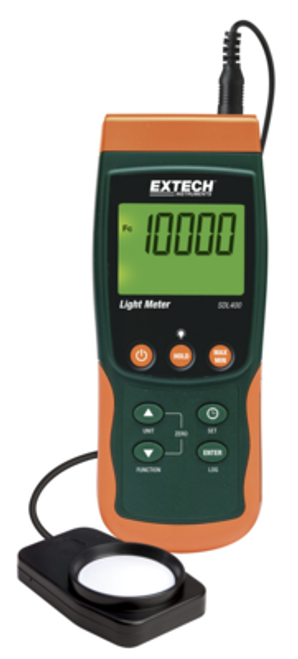 EXTECH SDL400-NIST LIGHT METER SD DATA LOGGER WITH NIST, 1679-0065