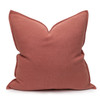Simone PURE LINEN Pillow Terra Cotta - front