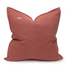 Simone PURE LINEN Pillow Terra Cotta - back