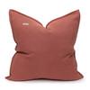 Simone PURE LINEN Pillow Terra Cotta - back