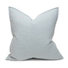 Simone PURE LINEN Pillow Aquamarine - Back