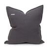 Simone PURE LINEN Pillow 22 Charcoal - Back