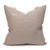 Muse PURE LINEN fringe Pillow Nude - Back