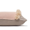 Muse PURE LINEN fringe Pillow Nude - Side