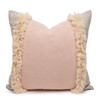 Muse PURE LINEN fringe Pillow Nude - Front