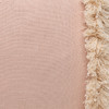 Muse PURE LINEN fringe Pillow Nude - Fabric Detail