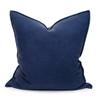 Navy Blue PURE LINEN Pillow 22 - Front