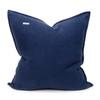 Navy Blue PURE LINEN Pillow 22 - Back