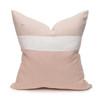 Cooper 22 Blush Pure Linen pillow - back