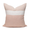 Cooper 22 Blush Pure Linen pillow - front
